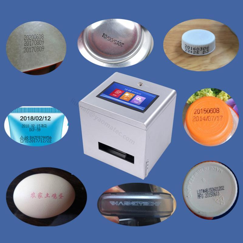 Drucker 12.7mm Desktop-Produktion Datum Concave-konvexe Oberflächendruck Flaschenkappe QR-Code Batch-Nummer Inkjet-Drucker-Codiermaschine