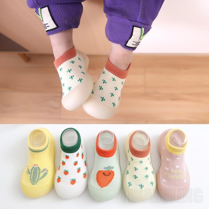 First Walkers Boy Girl Cartoon Warm Floor Socks Rubber Sole Shoes Anti-slip Walker Children's Baotou Baby Fashion Sock