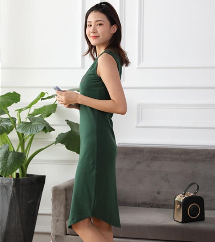 Moda Kadınlar Yaz Kolsuz Elbise Rahat Mektup Baskılı T-shirt Pamuk Elbiseler Yüksek Kaliteli Bayanlar Giysi DS01 Tops