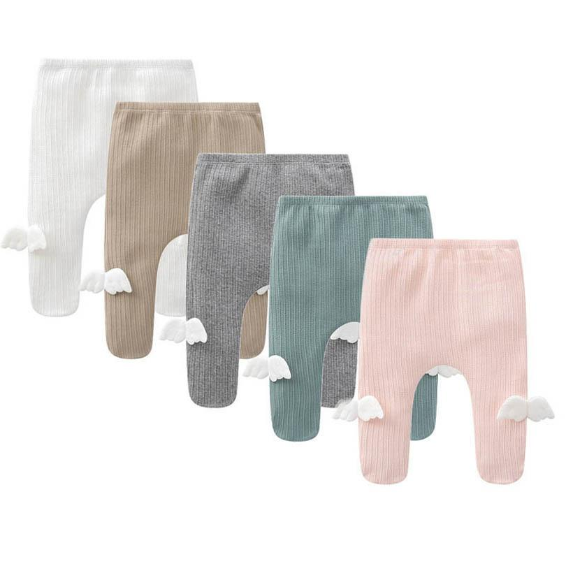 Leggings Baby Pants Girls Tights Kids Trousers Cotton Angel's Wings Infant Pantyhose Spring Autumn Toddler Clothes 0-12M B4970
