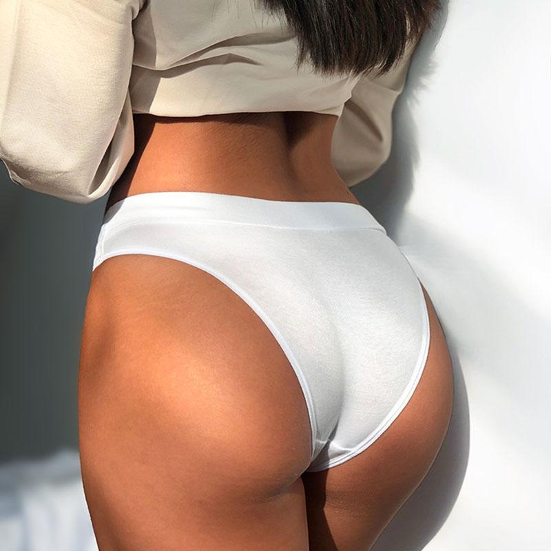 Bragas sexy americano m-2xl push ups estilo deportes acanalado algodón alto estiramiento cómodo mujer calzoncillos de las mujeres de la moda de la moda de la moda del lado ancho SJK42001