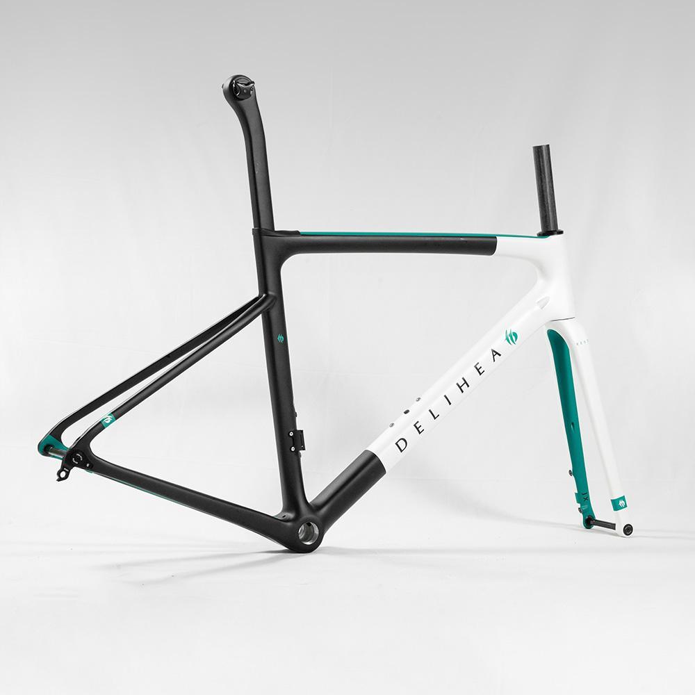 DELIIA بقية الكربون القرص الدراجة الإطار حافة الفرامل قرص الفرامل جودة الكربون الطريق الدراجة الإطار
