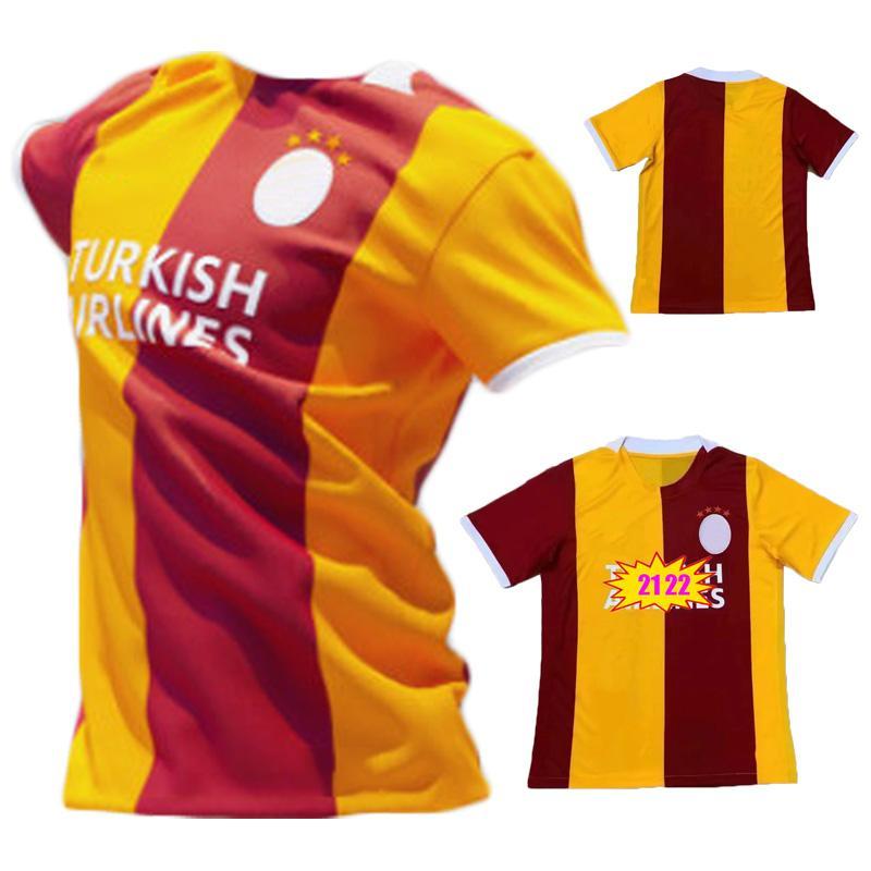 2021 2022 Galatasaray Soccer Jerseys 21 22 Gomis Linnes Cigerci Belhanda Fernando Ferghouli Donk Sneijde OztekinHome Away Kit Camisetas de fútbol