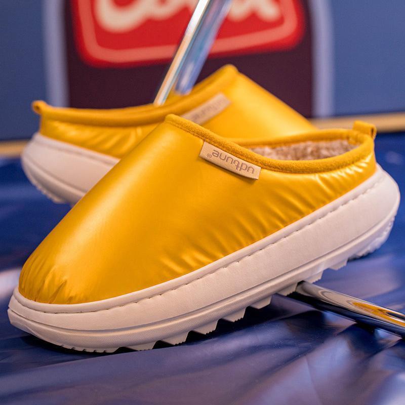 Invierno Zapatillas de invierno para pareja Impermeable Plataforma Plataforma de mujer Pisos de mujer zapatos de interior zapatos de mujer Calzado mujer