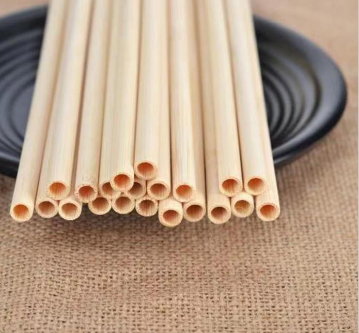 القش الخيزران reusable 20 سنتيمتر العضوية شرب القش الخشب الطبيعي للحزب عيد زفاف شريط أداة