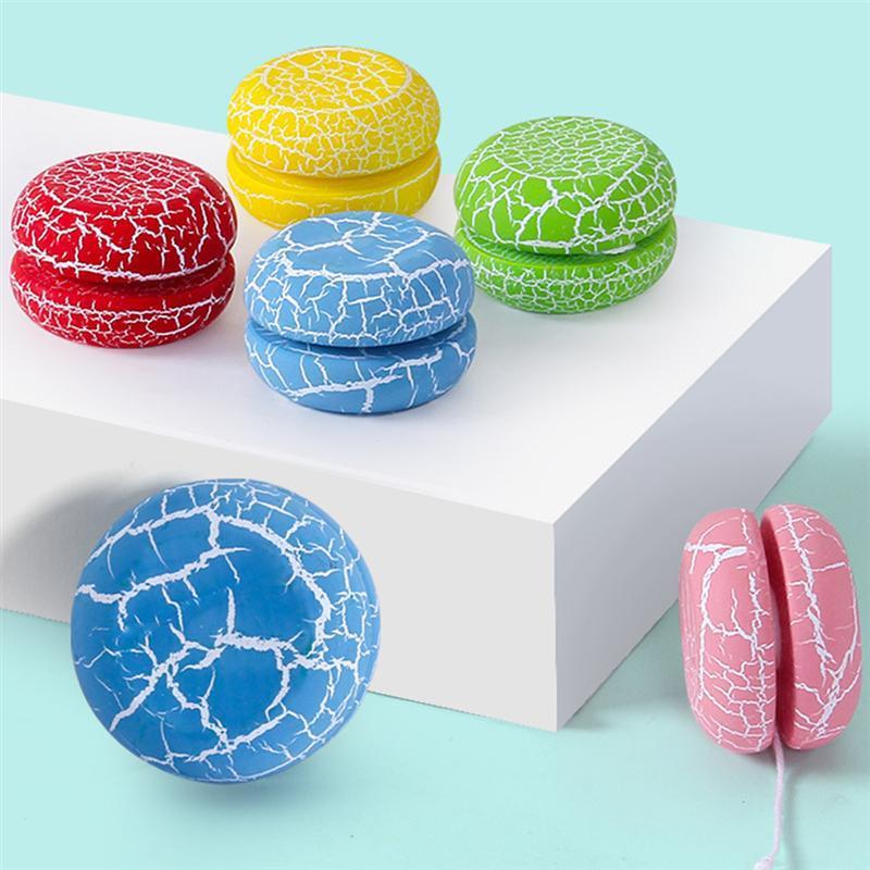 Attraente colore stampato in legno yoyo yo-yo professionale divertimento divertente gadget giocattoli interessanti per bambini regalo per bambini