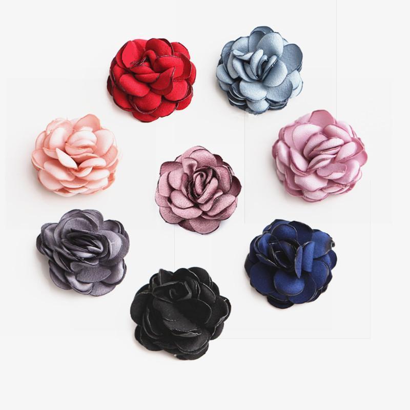 Guirnaldas de flores decorativas 10 unids 3.5cm Tela de gasa para vestir de tela Decoración flor artificial boda casa invitación