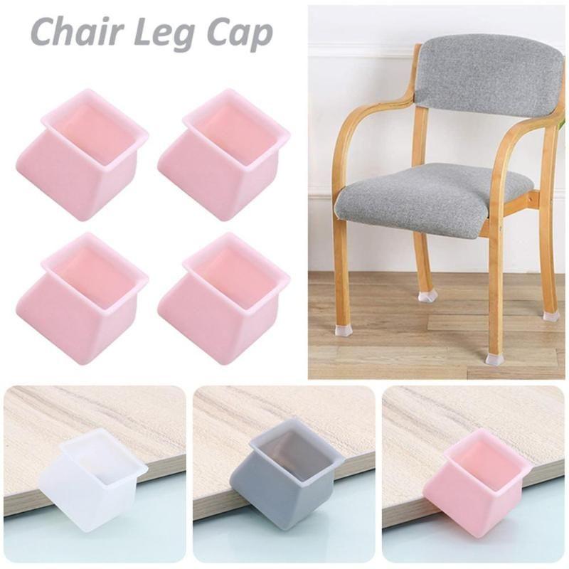 Cushion/Decorative Pillow 4pcs Table Chair Leg Silicone Cap Pad Furniture Feet Cover Floor Protector Non-slip Mat Caps Foot Protection