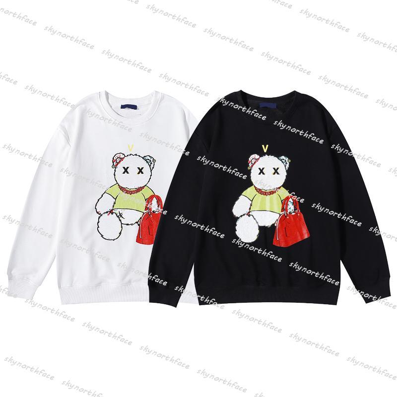 21ss 가을 겨울 남성 디자이너 여성 의류에 대한 스웨터 패션 패션 곰 패턴 여자 후드 긴 소매 스웨터 스웨터 pullovers 좋은