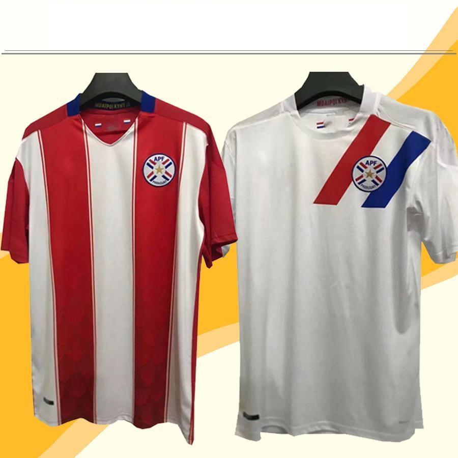 2021 Paraguay Soccer Jerseys National Team Home Red White Away Fotbollskjorta Yakuda Dropshipping Godkänd grossistträning Anpassad personlig