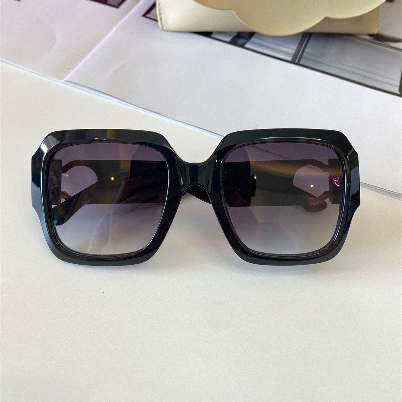 Óculos de sol para mulheres e homens Estilo de verão Anti-ultravioleta 961 quadro quadrado retro moda óculos aleatório caixa