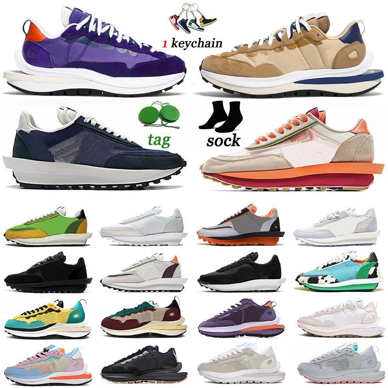 ayakkabı Nike Sacai VaporWaffle LDV Waffle Daybreak Type Koşu ayakkabısı tailwind 79 Chunky Dunky Undercover Blazer Bayanlar Erkeklerin Siyah Beyaz Naylon Spor Ayakkabı Antrenör