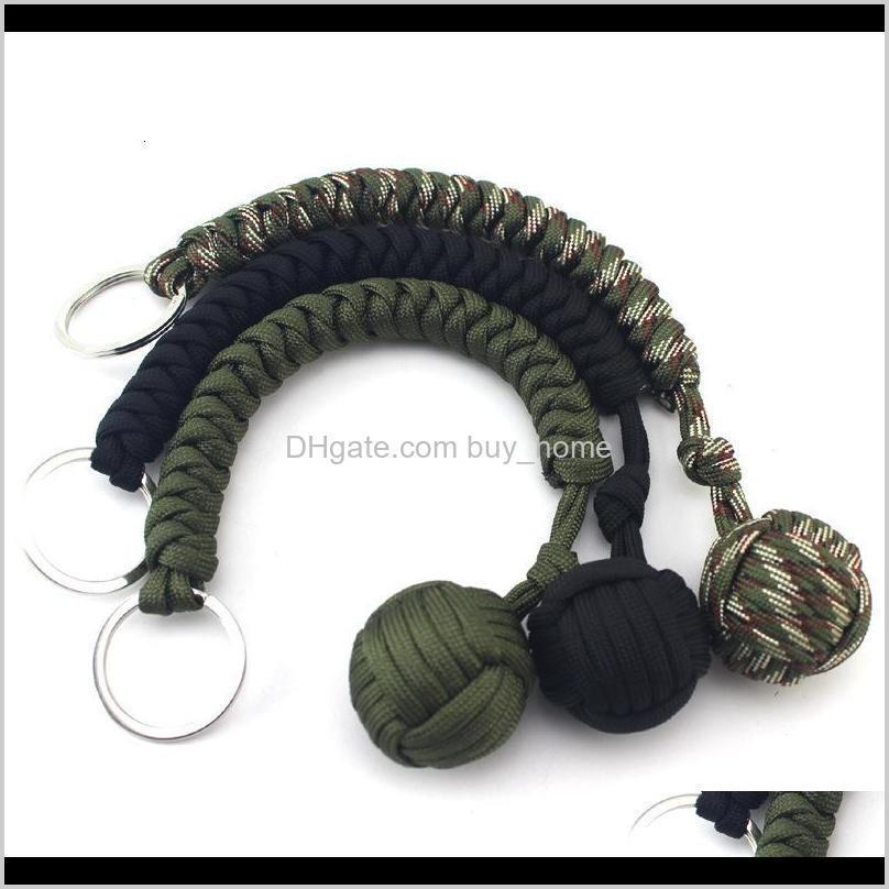 And Camping Hiking Sports & Outdoorsoutdoor Self Defense Survival Bracelets Seven Core Parachute Cord Braided Key Buckle With Steel Ball Hang