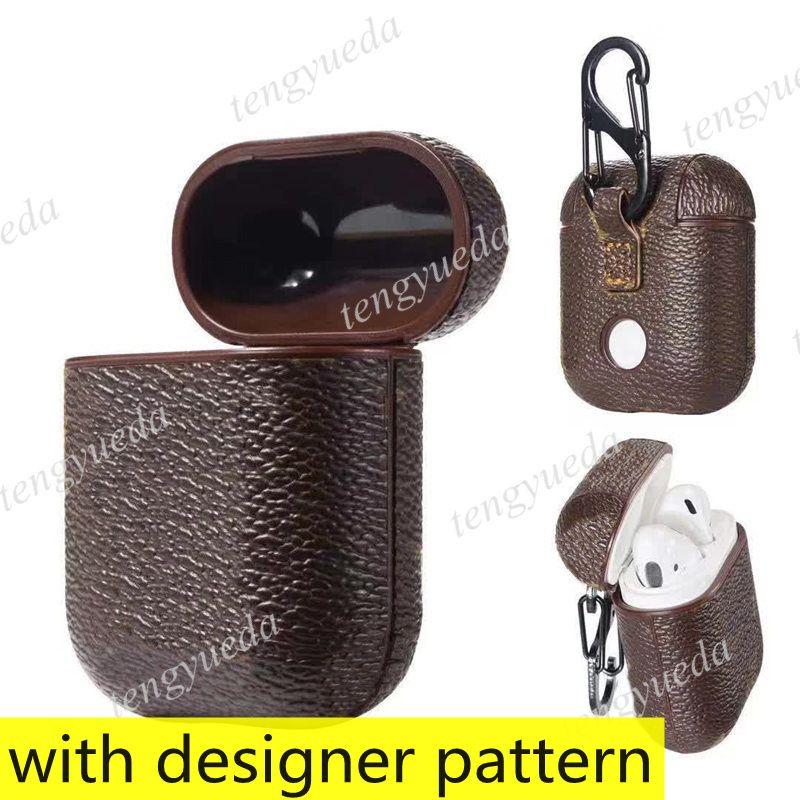 Fashion Designer Airpods Cases para Fone de Ouvido Pro 1 2 Caixa de Alta Qualidade Carta Impresso Pacote de Proteção de Shell Hard Protection Bolsas