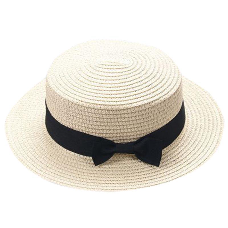 BABY Bowknot enfants chapeau de chapeau de paille chapeau de paille enfants garçon girls cap chapeaux d'été pour femmes chapeaux de soleil pour femmes006