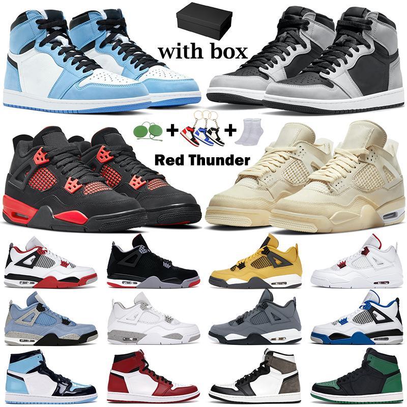 erkekler kadınlar basketbol ayakkabıları jumpman 1s Shadow 2.0 air jordan retro Hyper Royal 4s Üniversitesi Mavi Beyaz Oreo Siyah Kedi 13s Kırmızı Flint erkek Spor ayakkabılar