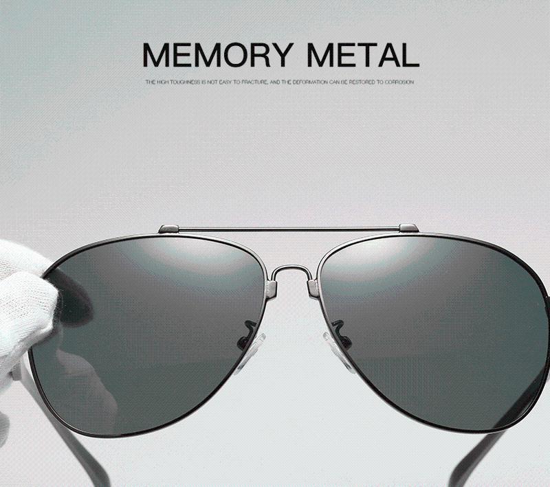 Lunettes de soleil en aluminium de luxe en aluminium Magnésium pour hommes HD Polarisée conduite lunettes de soleil surdimensionnées Gafas de sol