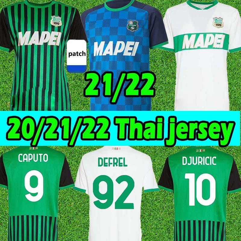 21/22 Sassuolo Футбол трикотажные майки 100-го венец Berardi Boga Locatelli Maglietta Calcio Traore 2021 2022 футбольные рубашки