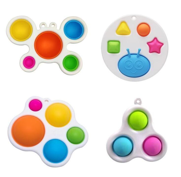 В наличии Новые стили Детские Сенсорные Простые Моимовые Игрушки Детские Подарки Взрослый Ребенок Смешной Антисус-Стресс POP IT Стресс Рецивера Push Bubble Fidget Игрушка