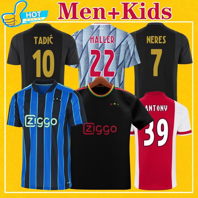 Haller A JAX Soccer Jersey 2021 2022 الصفحة الرئيسية Tadic Tadic Antony Neres Klaassen Labyad Football Shirt 21 22 Men + Kids Kit