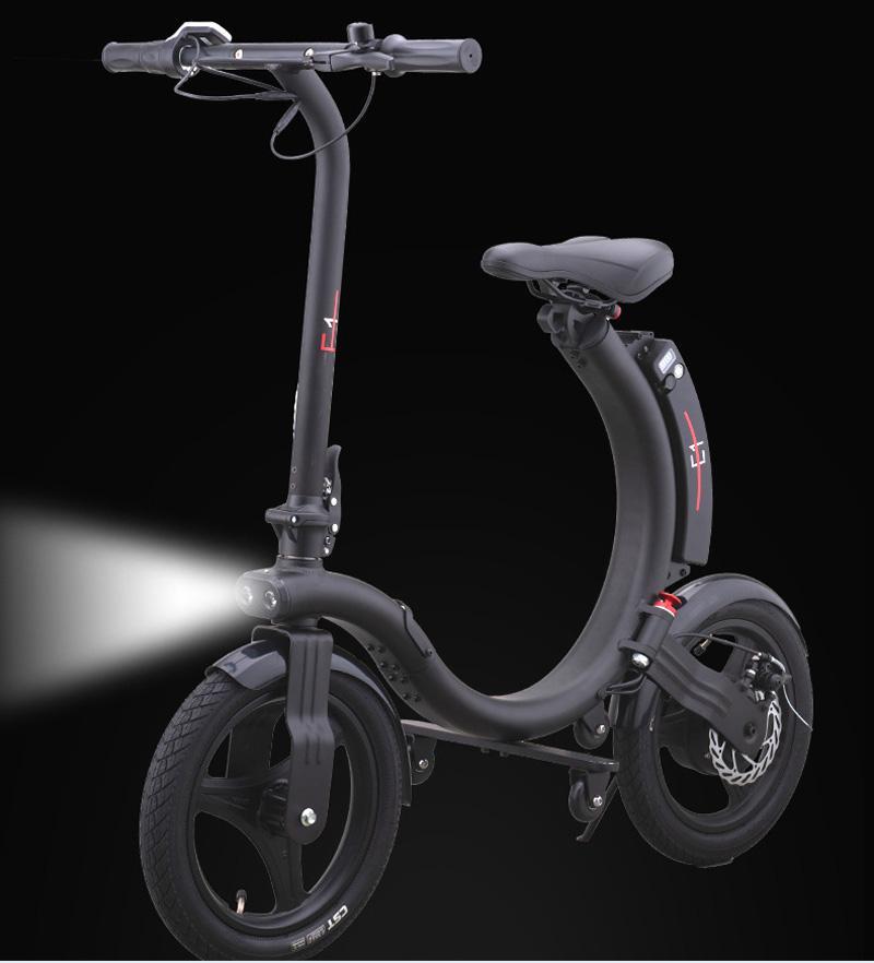 260W 접이식 전기 자전거 오프로드 ATV 접이식 장거리 5.2Ah 안전 강력한 배터리 성인 및 아이들을위한 14 인치 자전거 블랙 스쿠터