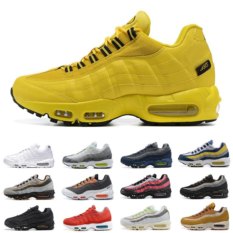 حذاء رياضي رجالي Nike Air max 95 NYC Taxi للجري KIM JONES Yin yang Oog ثلاثي أسود أبيض صوف معاد تدويره NSW Michigan Neon Cork De Lo mio أحذية رياضية للرجال zapatos