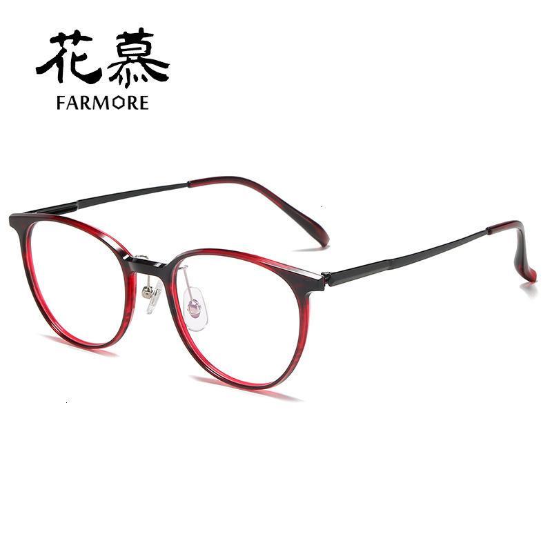 Las patas de titanio de la placa de alta densidad de los hombres y las mujeres pueden estar equipadas con myopia gafas de moda 3056