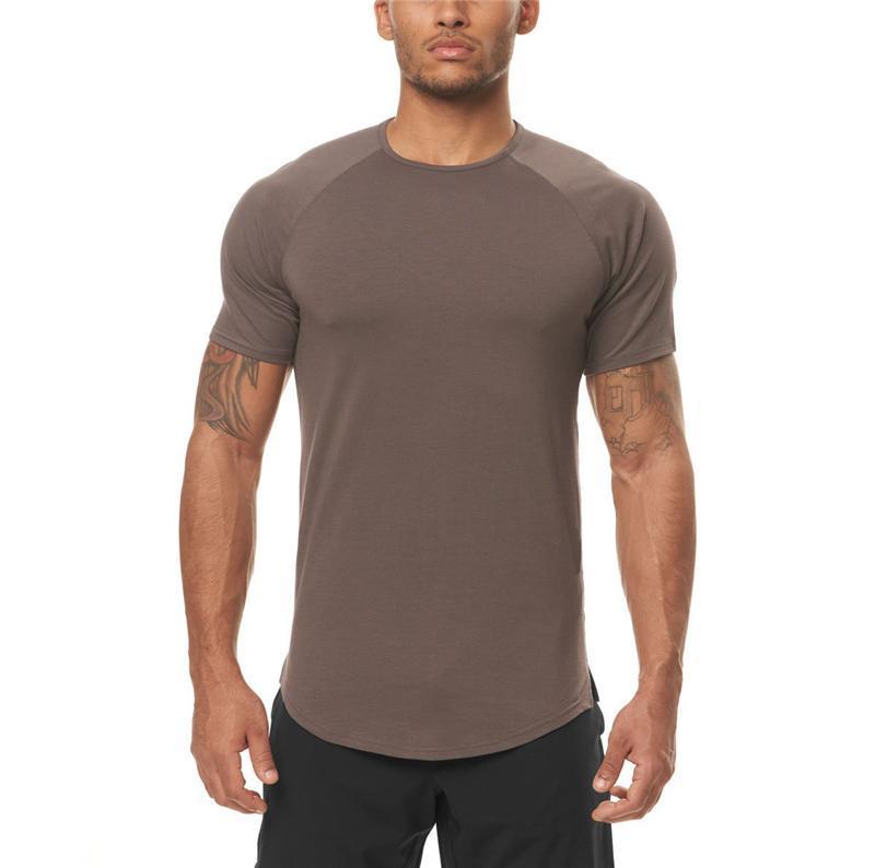 Erkek T-Shirt Marka Mesh Casual Erkek Kısa Kollu Moda Gömlek Giyim Koşu Eğitim Spor Tayt Spor Salonu Spor Hızlı Kuru Tshirt