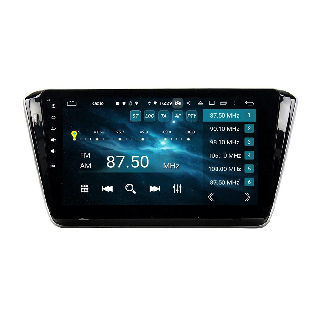 "DSP 1 DIN 10.1 ""PX6 안드로이드 10 자동차 DVD GPS 탐색 Skoda 2015-2019 스테레오 라디오 블루투스 5.0 WiFi Carplay Android 자동"