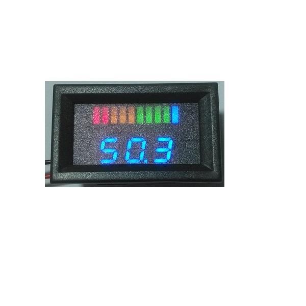 10 bar LED Digital Battery Charge Indicator meter with voltage indication For Golf Cart, e-motorcycle, sweeper.12V 24V 36V 48V 60V