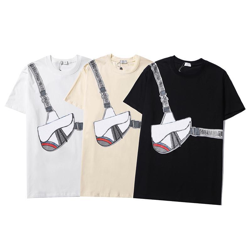캐주얼 남성 T 셔츠 남성용 셔츠 2021 편지 여름 짧은 소매 남자 티 여성 의류 아시아 크기 QAQ
