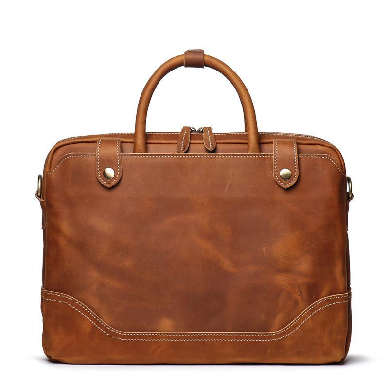 Briefcases Package Men Man 39 Bags Portable Computer Document Cowhide S Briefcase Single Leather Bag Shoulder Office 14 Inch