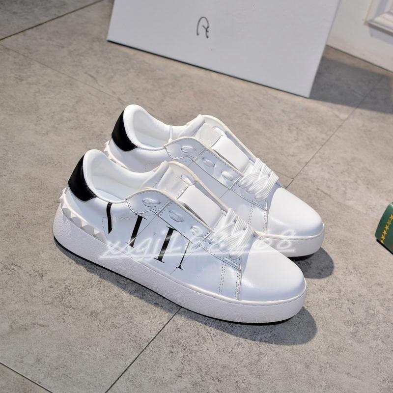 remache amor pequeño zapatos moda diseñador de hombres casual shaess para hombres y mujeres 100% cuero genuino zapatillas de deporte de las señoras