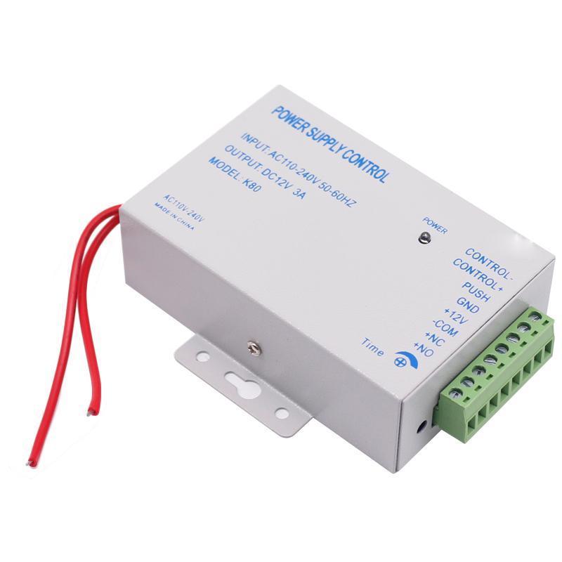 Controle de Acesso Digital Controle RFID Potência DC 3A-5A Sistema de Suprimento AC110-240