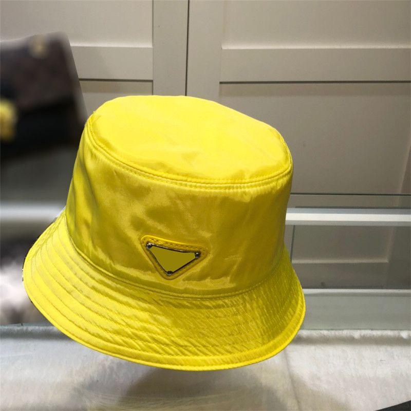 Erkek Kadın Tasarımcı Kova Şapka Moda Yaz Üçgen Kapaklar Şapka Erkek Açık Gömme Fedora Şapka Naylon Casquette Beyzbol Şapkası
