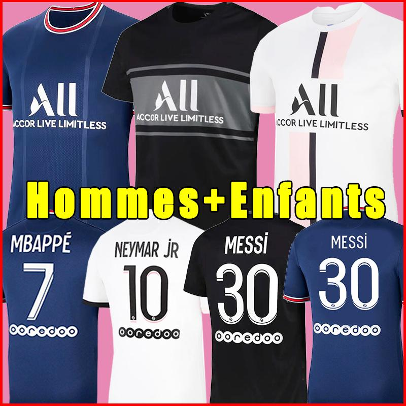 PSG 22 21 soccer jersey Fußball Trikots 2021 2022 Paris Saint Germain Trikot SERGIO RAMOS HAKIMI NEYMAR JR MBAPPE ICARDI Trikot Survêtement Fußball Kit Shirt Frauen vierte 4.