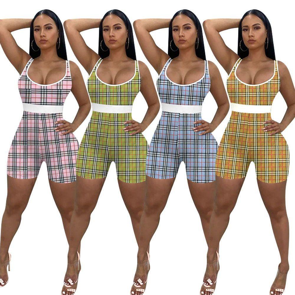 New Sports Overall Positioning Druck Slim Fit Jumpsuit Weste Yoga Sports Clubwear Jumpsuits Für Frauen Amp Strampler