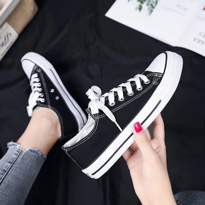 2021 Bahar Yeni 1970'ler Tuval Ayakkabı Bayan Kore tarzı Rahat Ayakkabılar Çift Trend Öğrenci Ayakkabı Bayan Üreticisi