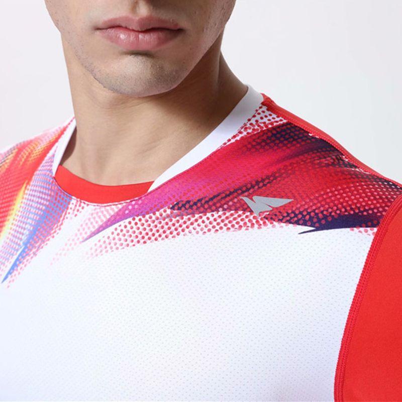 Erkek Badminton Gömlek Bayanlar Koşu Eğitim T-Shirt Erkekler Kadın Tenis Gömlek Gençlik Koşu Spor Kitleri Masa Tenis Spor Giyim