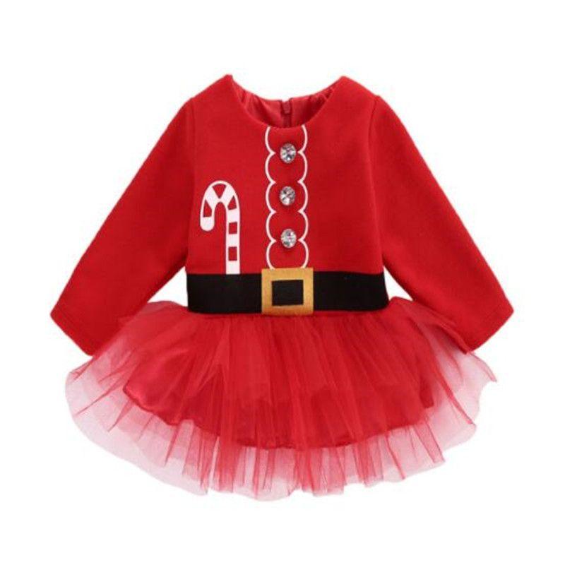 Pudcoco bébé fille robe mignon noël princesse princesse enfant enfant fille tulle tutu robe de fête costume 1362 y2