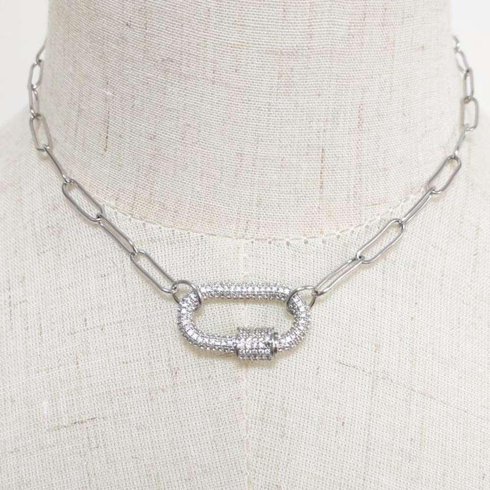 Никогда не исчезнуть из нержавеющей стали Choker ожерелье мода панк-заявление серебряное цветное кубинское ожерелье женщин свадебные украшения свадебные подарки1