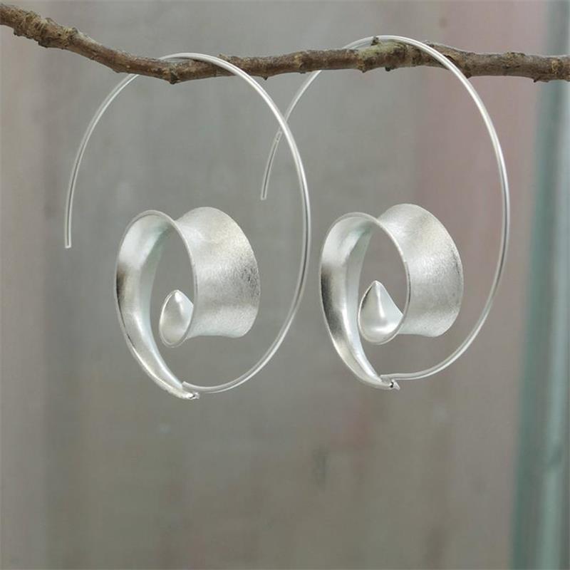2021 Fashion Gold Silver Color Hoop orecchini con orecchini finitura satinata per donne fidanzamento fidanzamento da sposa brincos regalo gioielli