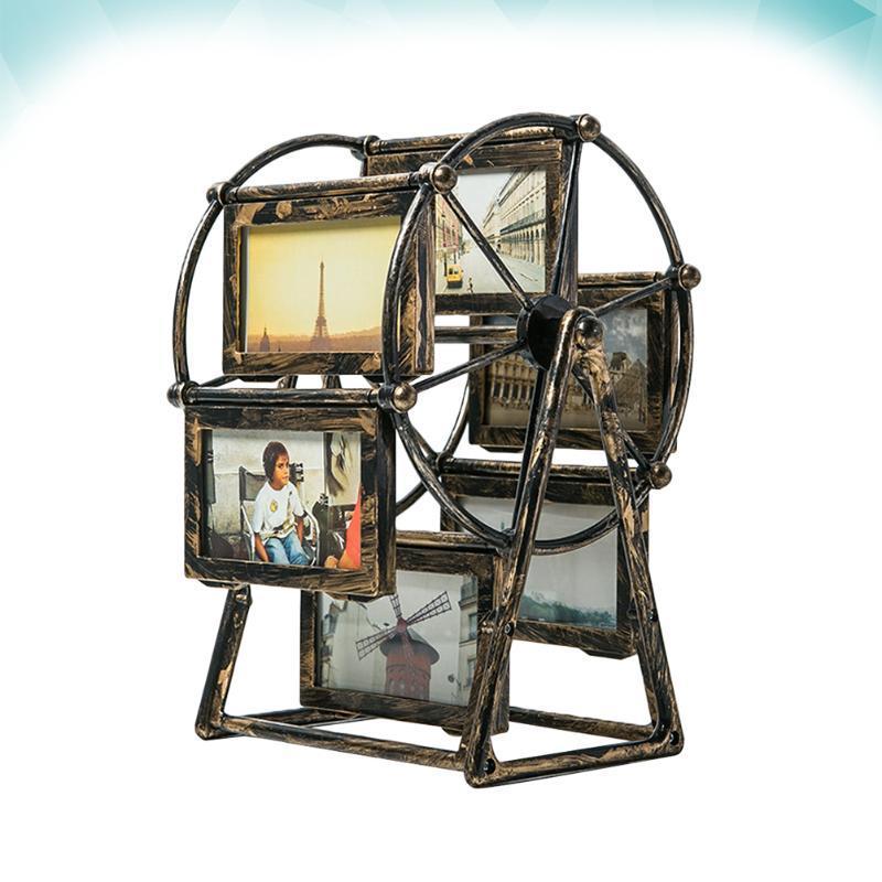 """إطارات فيريس عجلة PO الإطار الرجعية روتاري طاحونة جميلة صورة زخرفة سطح المكتب للمنزل (4 """"بدون نقاط البيع)"""