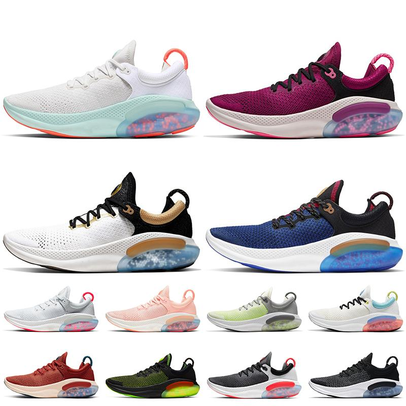 Nike Joyride Run Flyknit White Off Nike Zapatos para correr de alta calidad para hombre y mujer, para correr al aire libre, deportes, platino, tinte, Oreo, negro