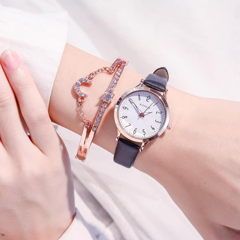 Femmes exquises wtches luxe luxe fshion ldies wristwtches numéros simples scle womn qurtz ler horloge reloj féminino