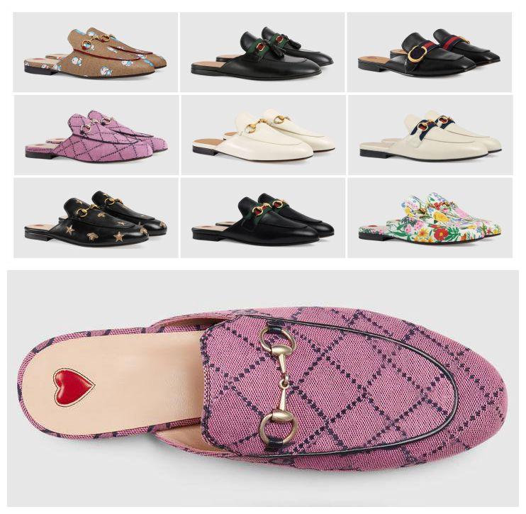 Fivela Mulas Mulheres Shoes Caixa De Metal Chinelos Com Classic Princetown Leater Designer Locas Genuínas Viros Grandes Flats Verão