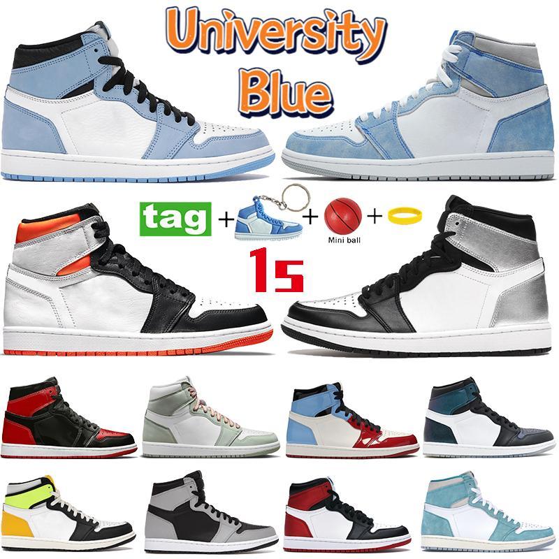 Yüksek 1 1 S Erkek Basketbol Ayakkabıları Üniversitesi Mavi Elektro Turuncu Koyu Mocha Chicago Twist Turbo Green UNC Igloo Kadın Sneakers Moda Spor Eğitmenleri