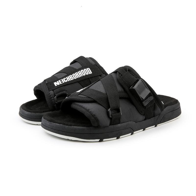 Chinelos Fznyl homens de verão respirável sandálias homens confortáveis moda ao ar livre praia sapatos Mens slides sandalias h ct3z