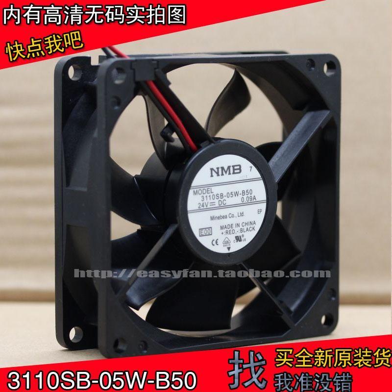 Original NMB-MAT 3110SB-05W-B50 8CM AVANTE DE BOLA DE DUAL DE 24V 80 × 80 × 25 mm Refrigeradores de refrigeración refrigerante