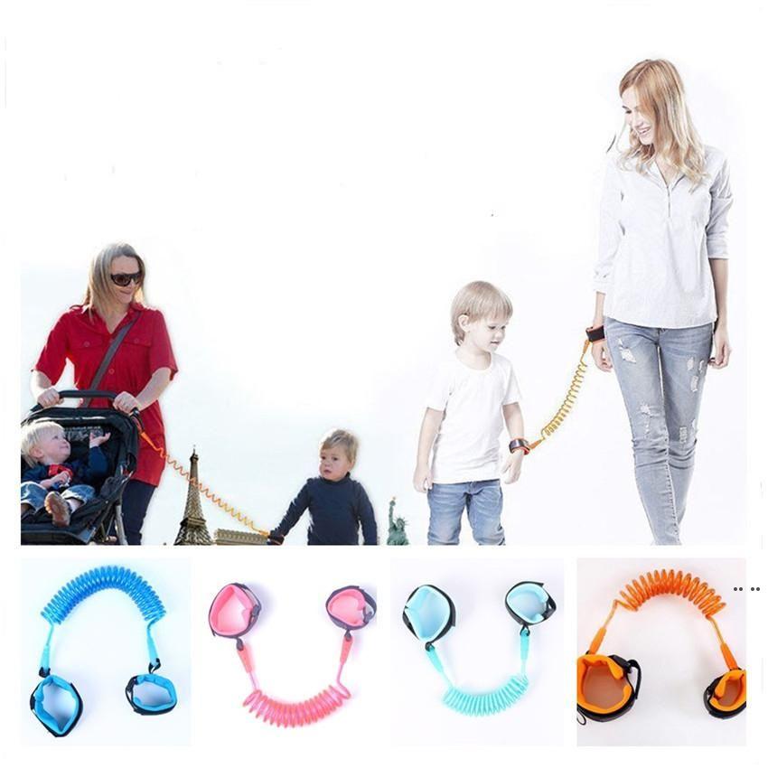 1.5m Kinder Anti-verlorene Strap Kids Sicherheits-Armband-Handgelenk-Link Kleinkind-Kabelbaum-Leine-Armbänder-Eltern-Baby-Handgelein Leine Gehen HWC6893